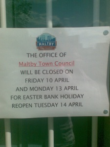 Maltby Town Council Closing Hours