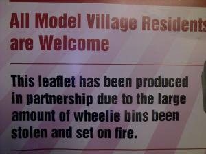 Wheelie Bins Been Set on Fire